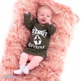 Shirtje met lange mouw - Stout braaf - Leger Groen