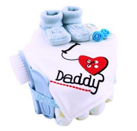 I Love Daddy Blauw