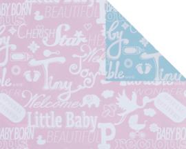 Gratis inpakken - Papier - Roze/Blauw