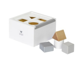 Wooden Block Box White