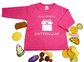 Shirtje met lange mouw - Mijn eerste Sinterklaas - Fuchsia