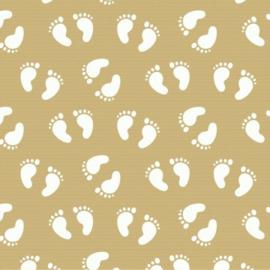 Gratis luxe inpakken - Babyvoetjes  - Kraftpapier