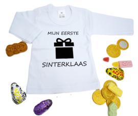 Shirtje met lange mouw - Mijn eerste Sinterklaas - Wit