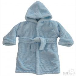Badjasje Super zacht, Fluffy luxe Blauw