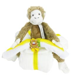 Luiertaart driewieler Monkey Mickey neutraal