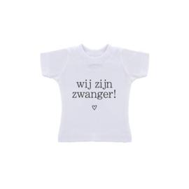 T-Shirt in zakje/ Wij willen jullie iets leuks vertellen/ wij zijn zwanger!