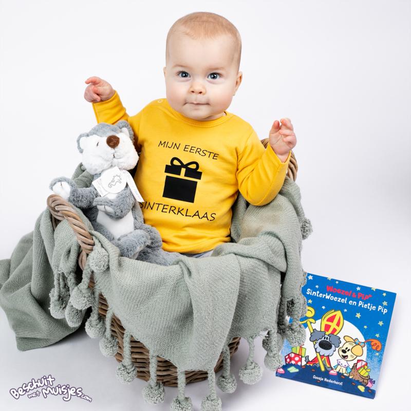 Shirtje met lange mouw - Mijn eerste Sinterklaas - Oker Geel