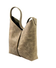 City Bag - levendig leer - taupe