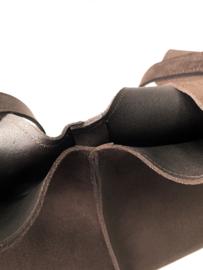 City Bag - suède - donker bruin