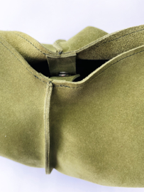 City bag - suède - mos groen