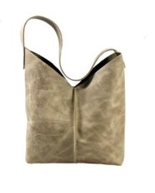 City Bag - levendig leer - taupe