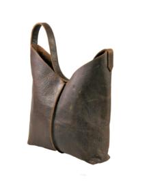 City Bag - levendig leer - donkerbruin