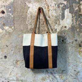 Sama bag - Two tone / black-white / naturel