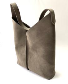 City Bag - suède - taupe