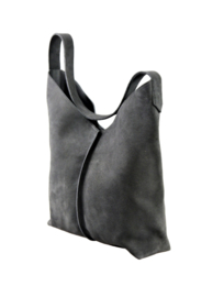 City bag - suède - antraciet