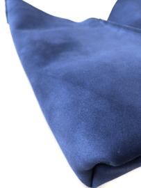 City Bag - suède - blauw