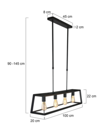 hanglamp - Buckley 1705 ZW