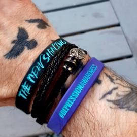 Wristband Black #depressionawareness
