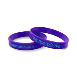 Wristband Purple  #depressionawareness
