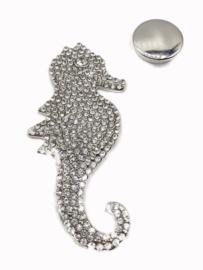 Damessjaal Magneet Broche  | Zeepaardje | Schittersteentjes