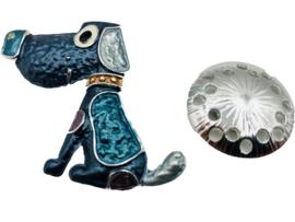Sjaal Magneet Broche | Hond (voor zomer- en wintersjaals)