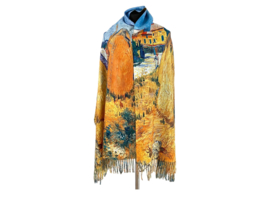 "Paco's Marbella + Gratis Broche t.w.v. € 19,95! ""Mode & Kunst"" Damessjaal Wintersjaal | Dubbelzijdig"