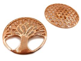 Damessjaal Magneet Broche met schittersteentjes | Levensboom (voor zomer- en wintersjaals)