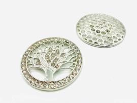 Damessjaal Magneet Broche met schittersteentjes | Levensboom (GRATIS! bij zomer- en wintersjaal)