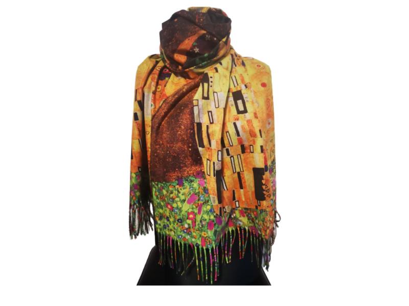 """Paco's Segovia + Gratis bijpassende Handschoenen t.w.v. € 24,95! """"Mode & Kunst"""" Damessjaal Wintersjaal"""