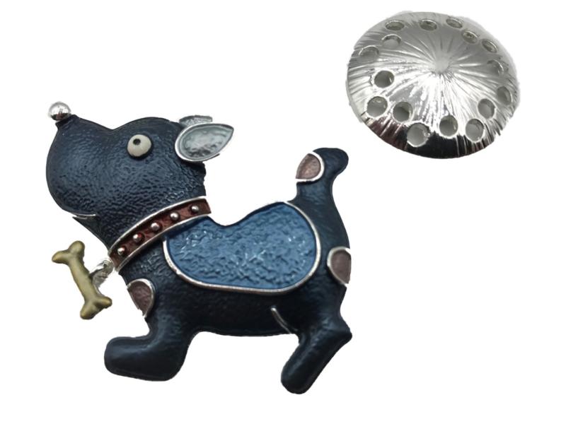 Damessjaal Magneet Broche | Hond (GRATIS! bij zomer- en wintersjaal)