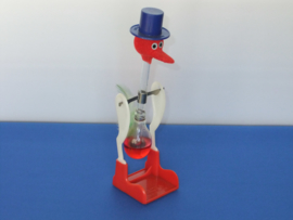 Arora drinking bird red
