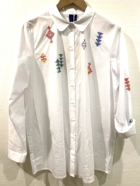 SIGRID EMBROIDERED SHIRT - WHITE