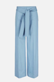 PADMA TROUSERS WITH QUILTED BELT - POWDER BLU