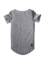 Grijs effen T-shirt