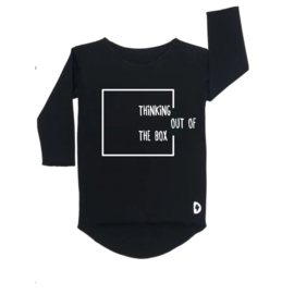 Thinking out of the box - Zwart Longsleeve