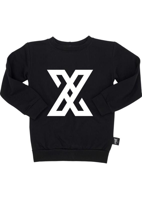 By Xavi – Zwarte Logo Sweater