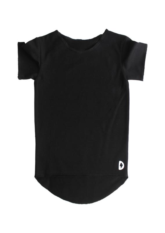 Zwart effen T-Shirt