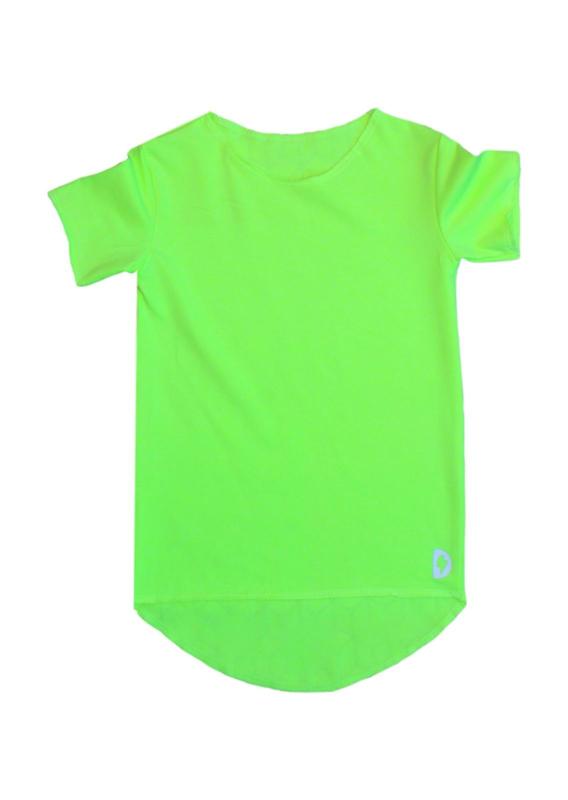 Neon geel effen T-shirt
