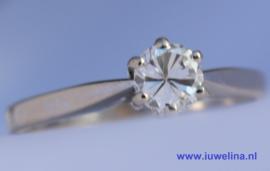 14 kt gouden ring 0.30 ct diamant briljant VS