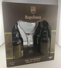 Rupeliaan Geschenkverpakking  4x33cl + glas