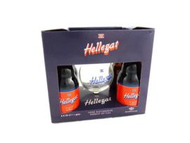Hellegat Geschenkverpakking  4x33cl + glas