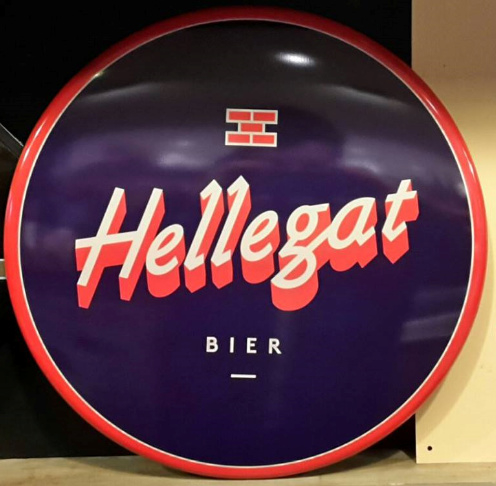 Hellegat Tin metal bord