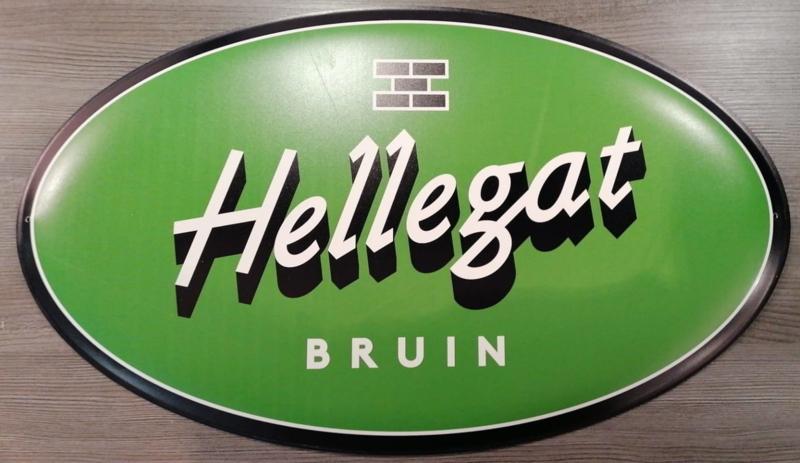 Hellegat Bruin Aluminium bord