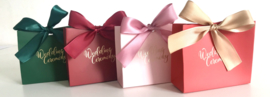 Premium Giftbag Color Gold Foil and Ribbon 'Wedding Ceremony' XS