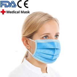 10-pack High quality medical grade protective mask face mask hygenically packaged resealable (blue color)