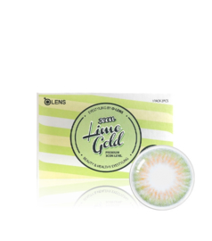 O-lens Lime Gold 3CON (2 lenses/box, Plano, 1 Month)