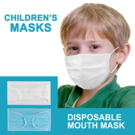 10 pack Protective mask for kids hygienically packaged by (white color)
