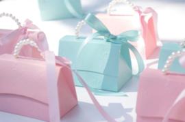 Giftbag With Pearl String and Ribbon Small