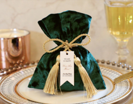 Premium Luxurious Velvet Giftpouch with Rope and Card