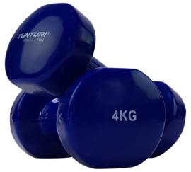 Halter set vanadiumstaal / vinyl - 2 x 4.0 KG - blauw